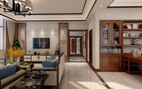 美轮美奂客厅新中式效果图