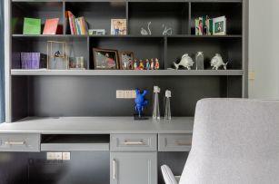 2019美式书房装修设计 2019美式背景墙装修效果图片