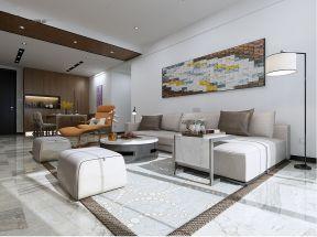 现代简约客厅地砖装饰图片