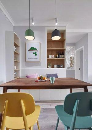 简洁褐色餐桌装修效果图欣赏