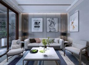 客厅白色背景墙装修