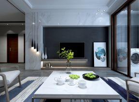客厅背景墙现代简约装修效果图