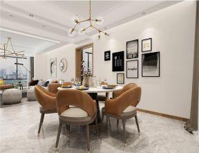 2019现代简约餐厅效果图 2019现代简约地板装修效果图片
