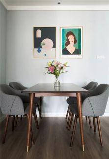 美轮美奂原木色餐桌效果图