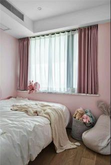 儿童房粉色床装饰效果图