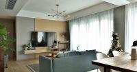 庄重原木色客厅装饰图