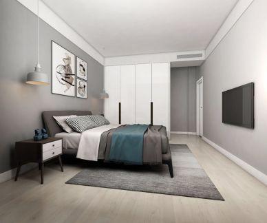简约卧室床装修设计