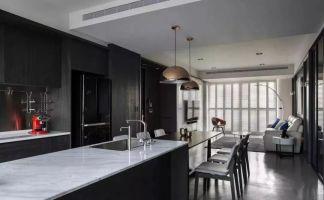 独具一格黑白厨房室内效果图