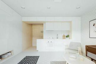 朴素温馨厨房橱柜构造图