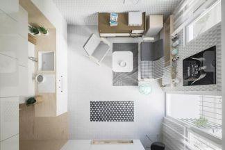 客厅白色地砖效果图