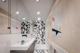 卫生间背景墙日式效果图