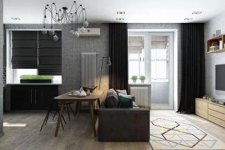 2019工业客厅装修设计 2019工业地板效果图