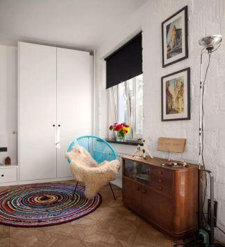 舒适蓝色卧室装修实景图