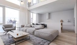 富丽白色客厅室内装饰