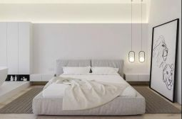 现代卧室床装修效果图