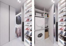 低调优雅鞋柜装修实景图片