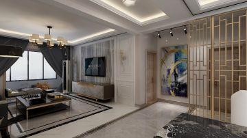 2020现代简约客厅装修设计 2020现代简约隔断图片
