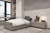 卧室米色床装潢图