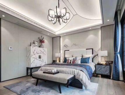 2020中式卧室装修设计图片 2020中式吊顶效果图
