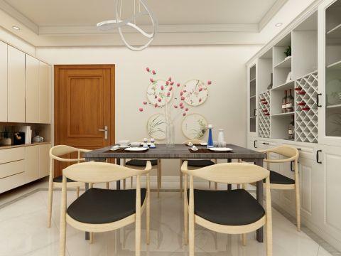 餐厅原木色餐桌装修效果图欣赏