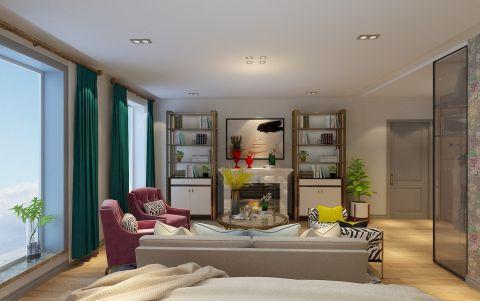 简洁米色客厅装修效果图