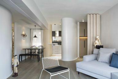 2019新古典110平米装修设计 2019新古典三居室装修设计图片