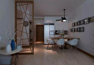客厅原木色地板家装设计图