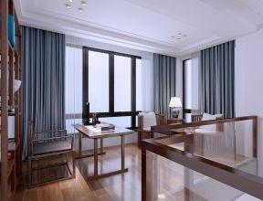 2021新中式书房装修设计 2021新中式窗帘设计图片
