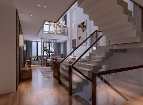 客厅楼梯新中式设计图欣赏