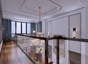 新中式客厅楼梯装潢图片
