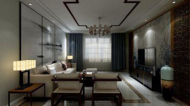 恒业家园140平新中式风格效果图案例