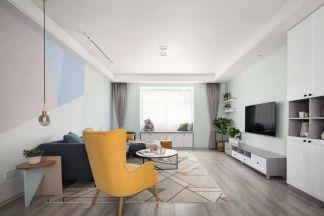135平米清新北歐3室2廳,卡座餐廳浪漫又實用!