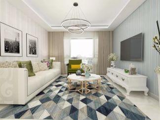 2019现代90平米装饰设计 2019现代二居室u乐娱乐平台设计