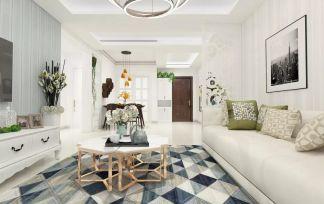 2020田園110平米裝修設計 2020田園二居室裝修設計