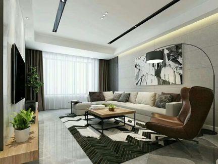 客厅黑白灰吊顶家装设计图