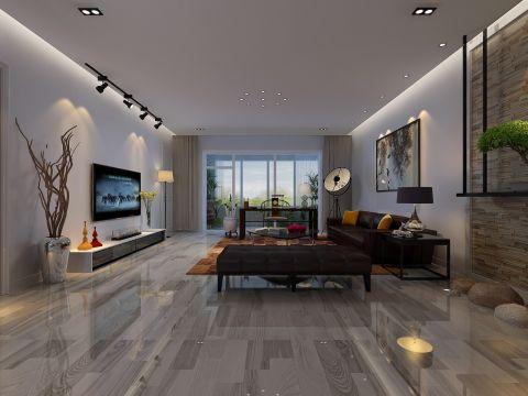 客厅灰色地板砖图片