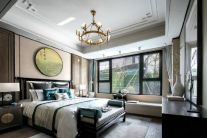 温馨卧室中式构造图