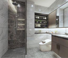 新中式卫生间背景墙装潢效果图