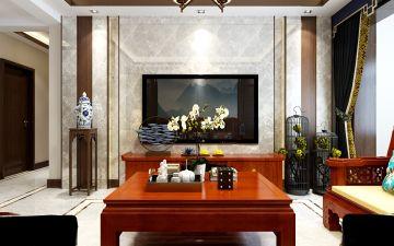 简约红木色客厅设计图片