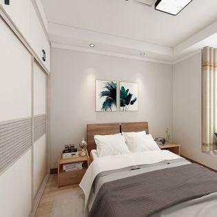 美好白色卧室家装设计图