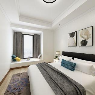 质朴卧室窗帘室内效果图