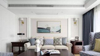 客厅白色背景墙室内效果图