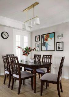 古朴美式褐色餐桌装饰设计