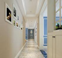 沉稳暖色系走廊装饰图片