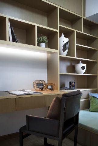 现代书房新中式装饰效果图