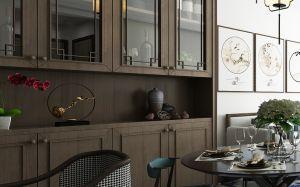 客厅黑色茶几装潢设计图片