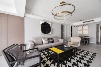 写意白色客厅装饰效果图