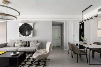 清爽白色背景墙装饰设计图片