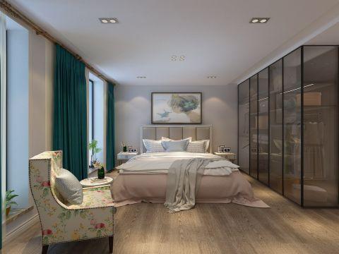 庄重卧室美式装修实景图片