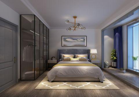卧室金色衣柜装潢效果图